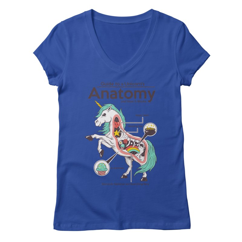 Anatomy of a Unicorn Women's Regular V-Neck by Vincent Trinidad Art