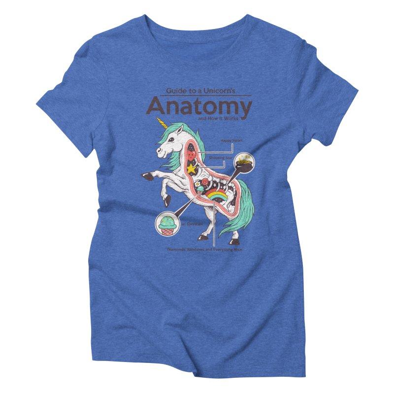Anatomy of a Unicorn Women's Triblend T-Shirt by Vincent Trinidad Art