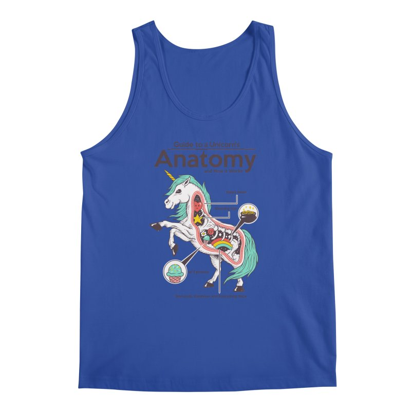Anatomy of a Unicorn Men's Regular Tank by Vincent Trinidad Art