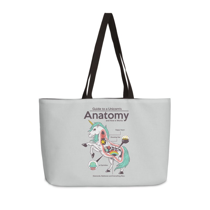 Anatomy of a Unicorn Accessories Weekender Bag Bag by Vincent Trinidad Art
