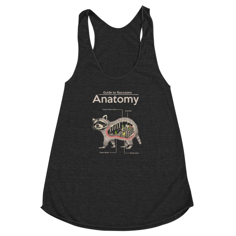 Anatomy of a Raccoon Women's Racerback Triblend Tank by Vincent Trinidad Art