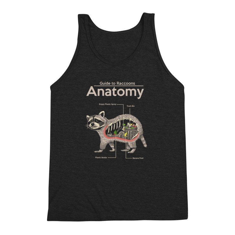 Anatomy of a Raccoon Men's Triblend Tank by Vincent Trinidad Art