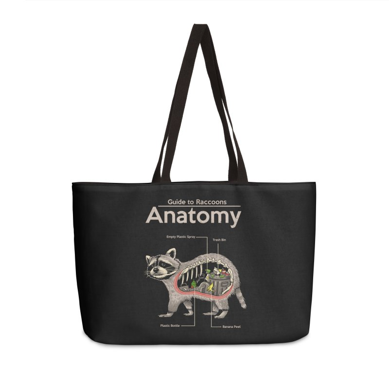 Anatomy of a Raccoon Accessories Weekender Bag Bag by Vincent Trinidad Art