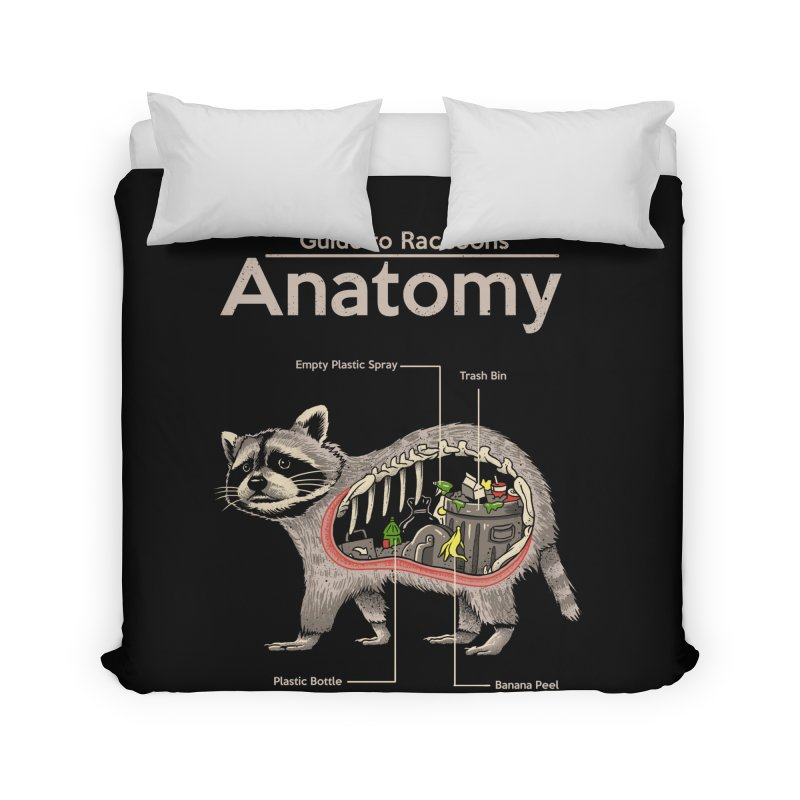 Anatomy of a Raccoon Home Duvet by Vincent Trinidad Art