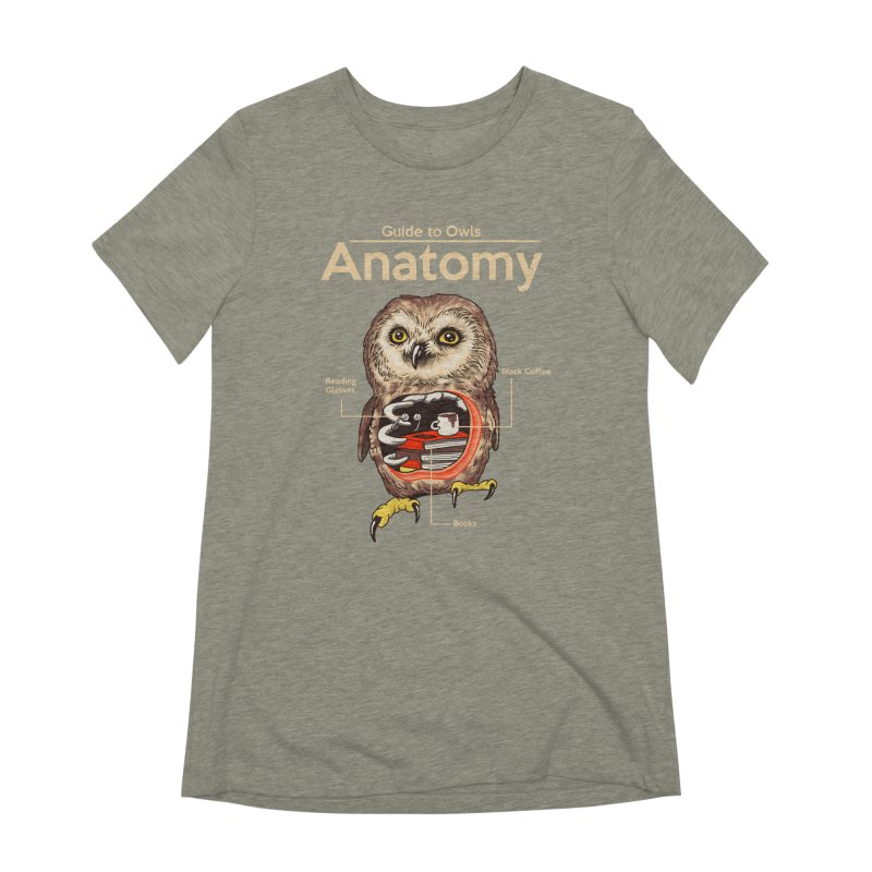 Anatomy of Owls Women's Extra Soft T-Shirt by Vincent Trinidad Art