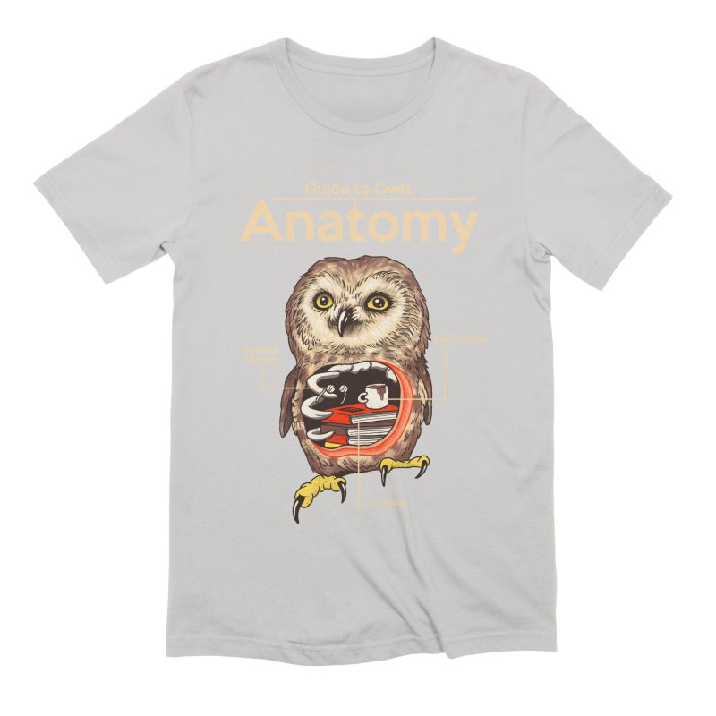 Anatomy of Owls Men's Extra Soft T-Shirt by Vincent Trinidad Art