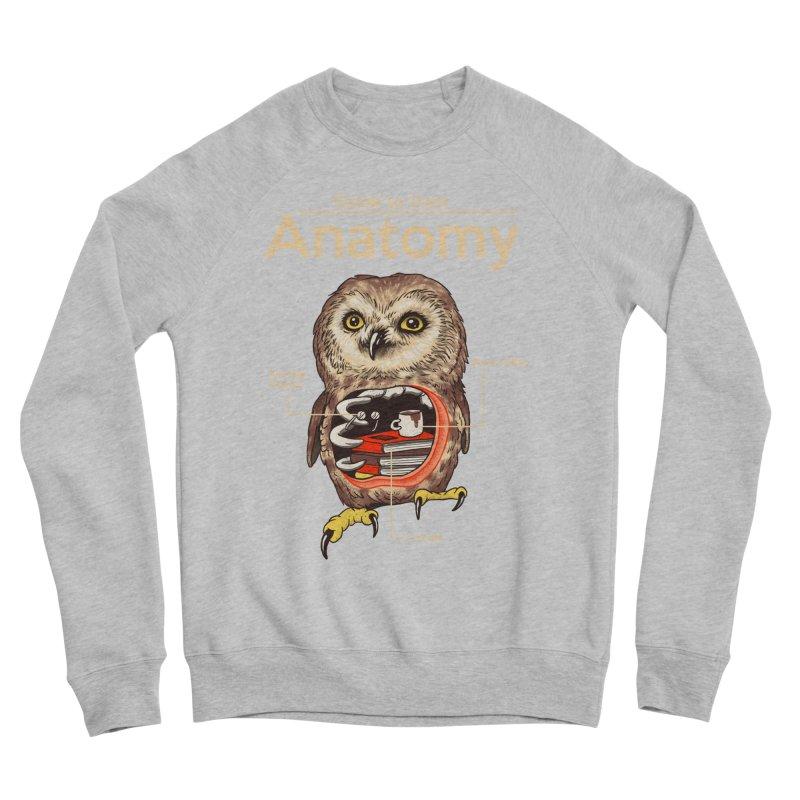 Anatomy of Owls Men's Sponge Fleece Sweatshirt by Vincent Trinidad Art