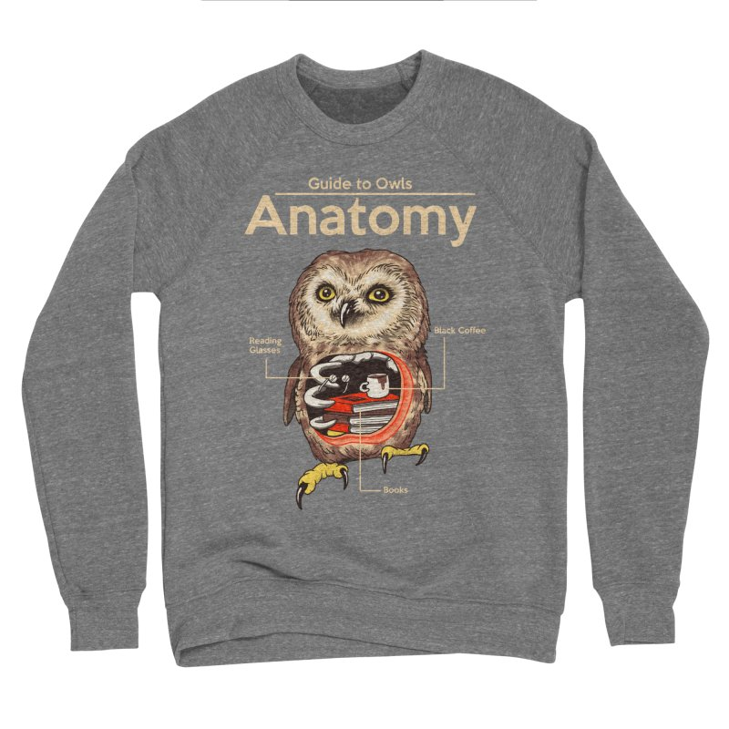 Anatomy of Owls Women's Sponge Fleece Sweatshirt by Vincent Trinidad Art