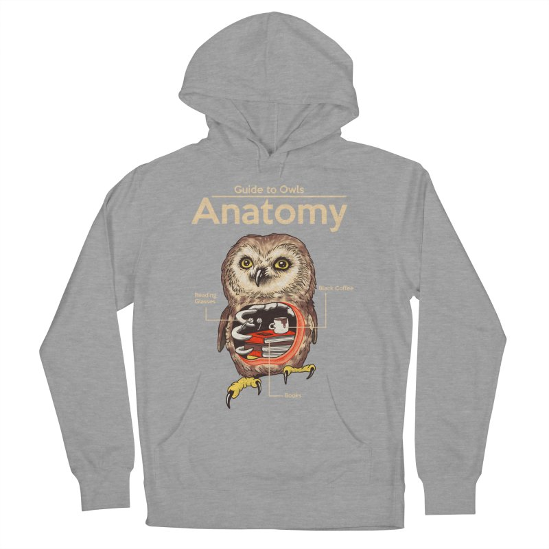 Anatomy of Owls Men's French Terry Pullover Hoody by Vincent Trinidad Art