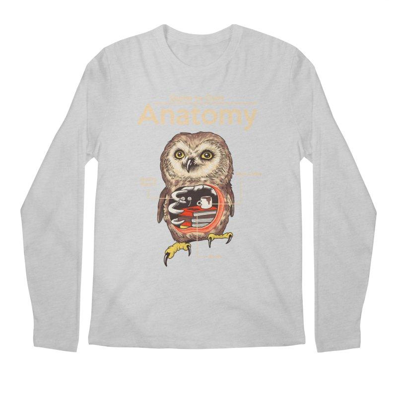 Anatomy of Owls Men's Regular Longsleeve T-Shirt by Vincent Trinidad Art