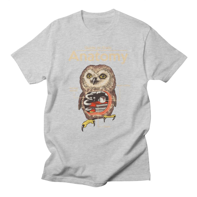 Anatomy of Owls Women's Regular Unisex T-Shirt by Vincent Trinidad Art