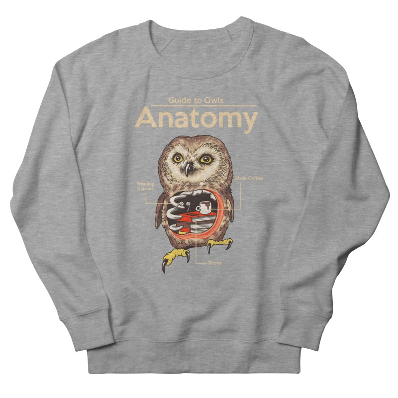 Anatomy of Owls Women's French Terry Sweatshirt by Vincent Trinidad Art