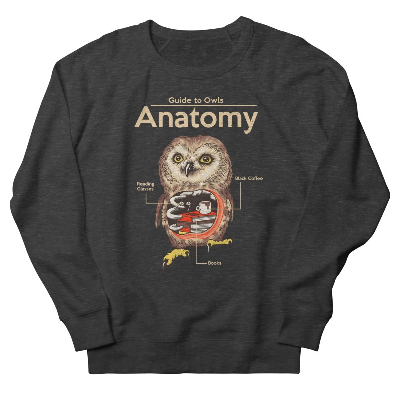 Anatomy of Owls Men's French Terry Sweatshirt by Vincent Trinidad Art