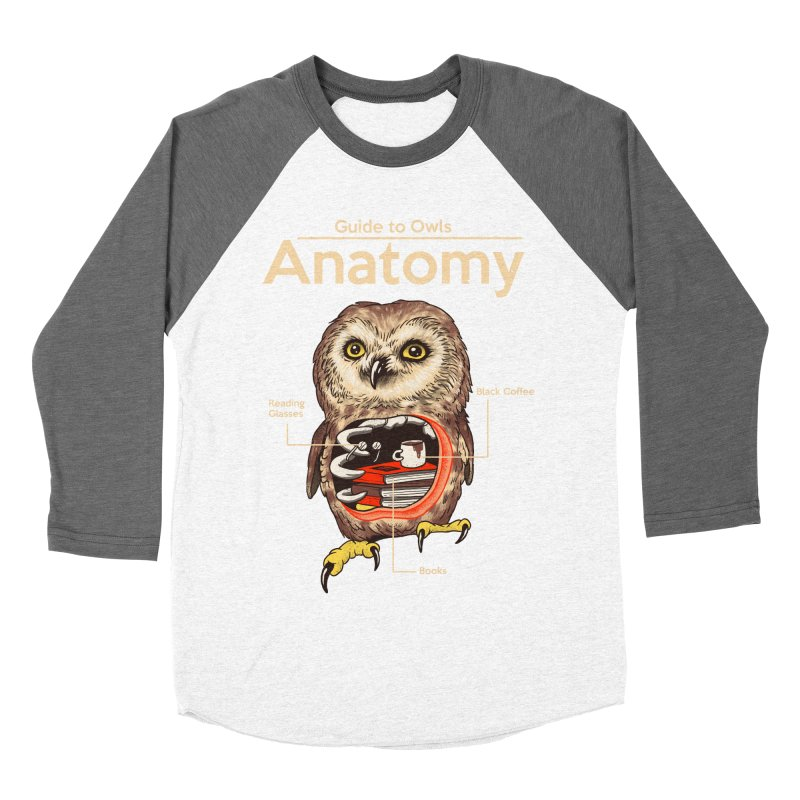 Anatomy of Owls Women's Baseball Triblend Longsleeve T-Shirt by Vincent Trinidad Art