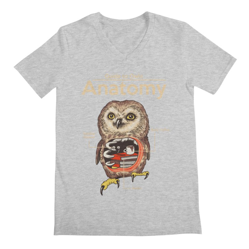 Anatomy of Owls Men's Regular V-Neck by Vincent Trinidad Art