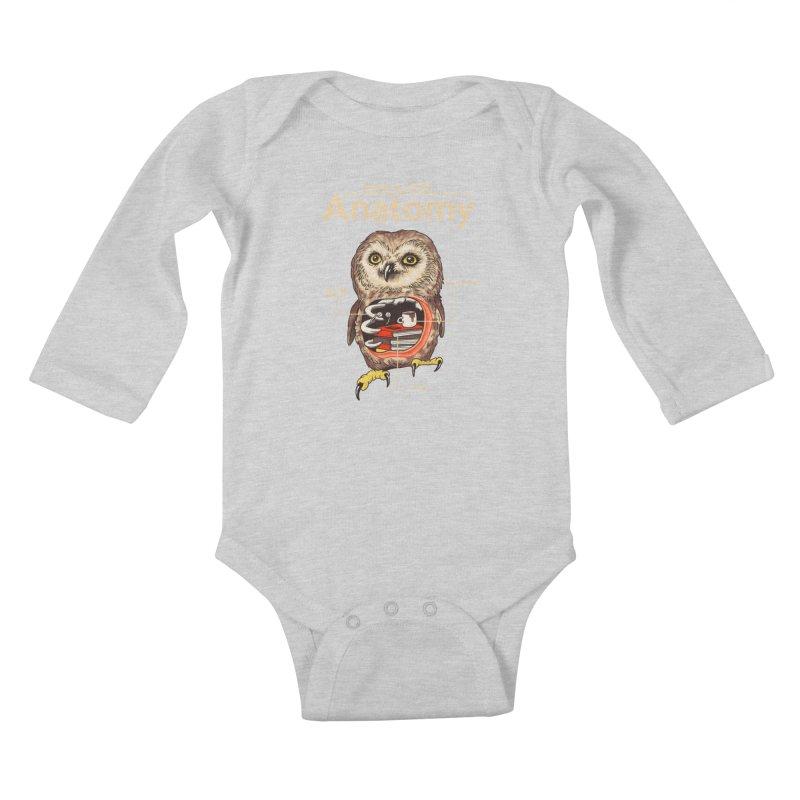 Anatomy of Owls Kids Baby Longsleeve Bodysuit by Vincent Trinidad Art
