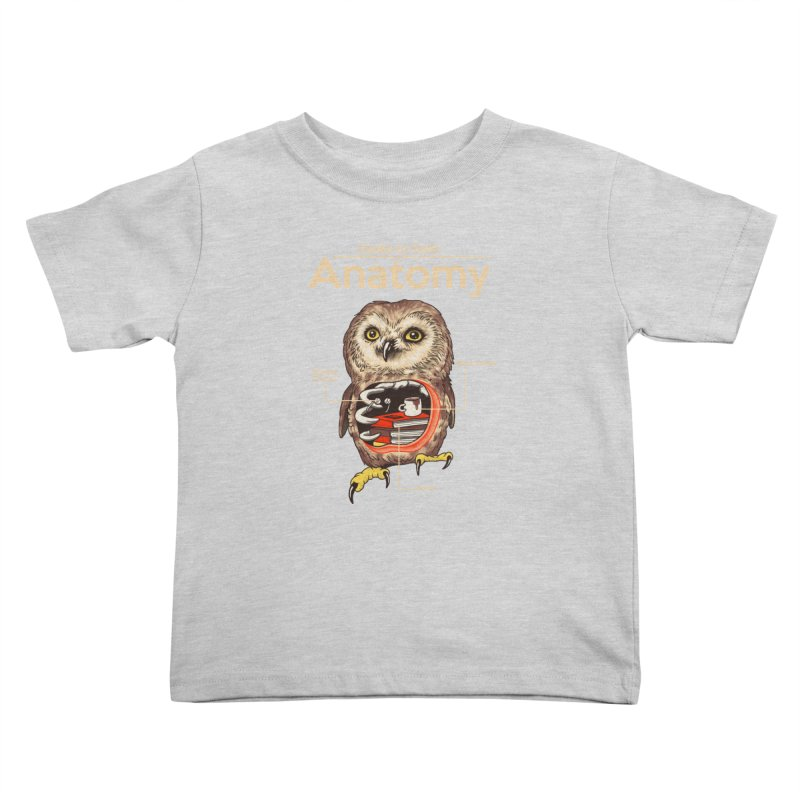 Anatomy of Owls Kids Toddler T-Shirt by Vincent Trinidad Art
