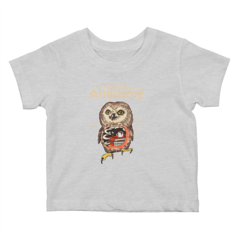 Anatomy of Owls Kids Baby T-Shirt by Vincent Trinidad Art
