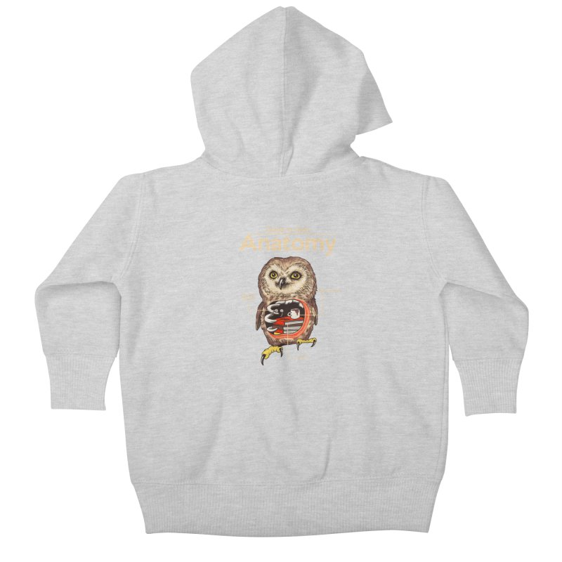 Anatomy of Owls Kids Baby Zip-Up Hoody by Vincent Trinidad Art