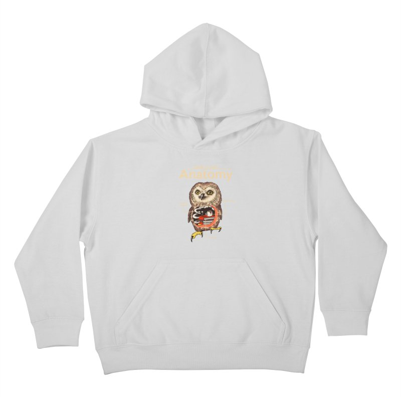 Anatomy of Owls Kids Pullover Hoody by Vincent Trinidad Art