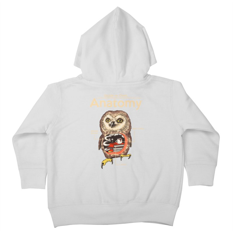 Anatomy of Owls Kids Toddler Zip-Up Hoody by Vincent Trinidad Art