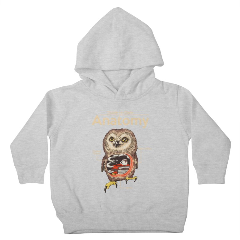 Anatomy of Owls Kids Toddler Pullover Hoody by Vincent Trinidad Art