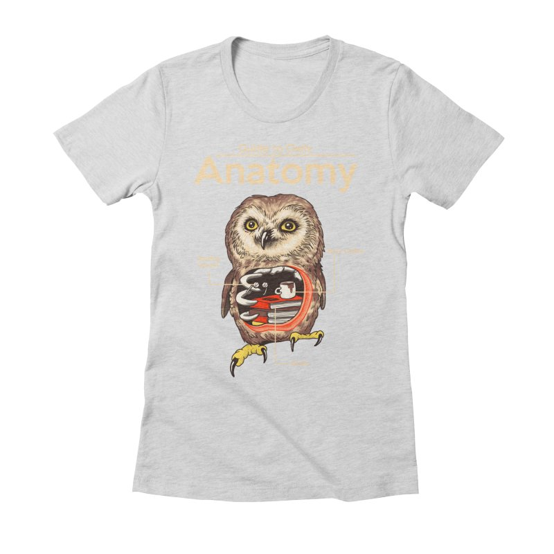 Anatomy of Owls Women's Fitted T-Shirt by Vincent Trinidad Art
