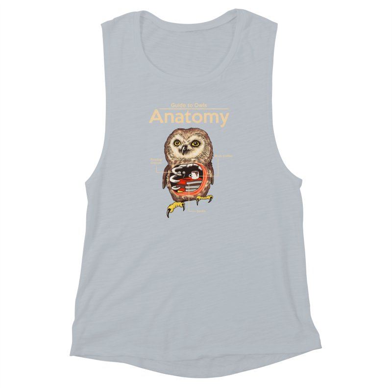 Anatomy of Owls Women's Muscle Tank by Vincent Trinidad Art
