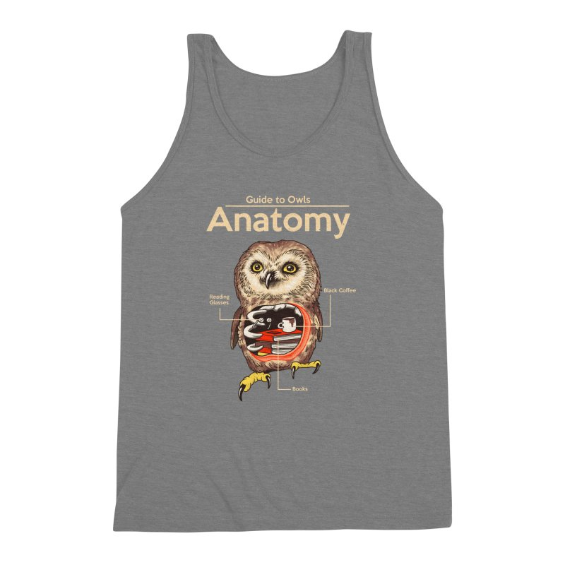 Anatomy of Owls Men's Triblend Tank by Vincent Trinidad Art