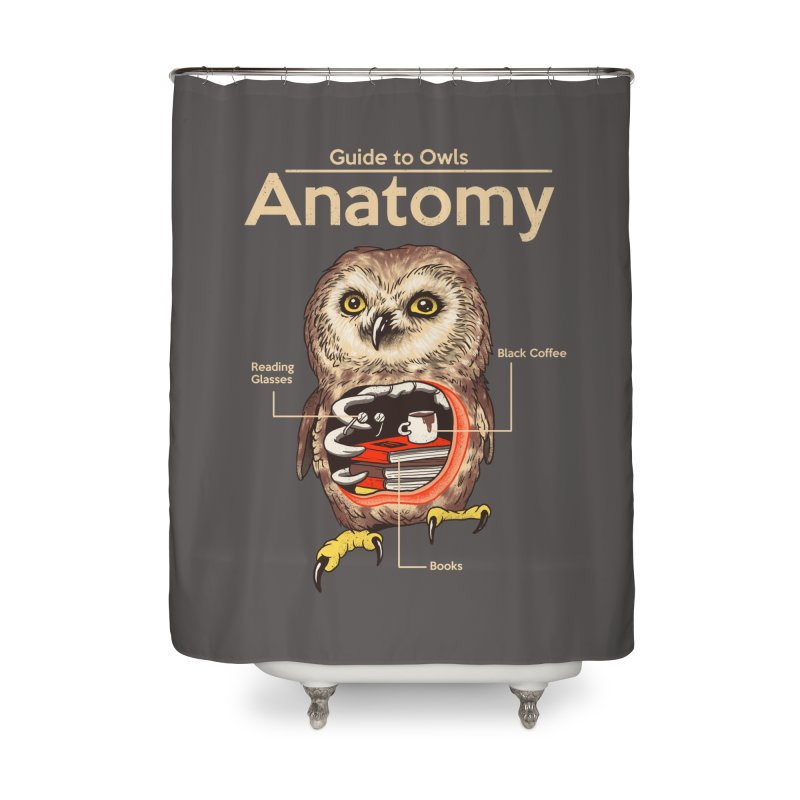 Anatomy of Owls Home Shower Curtain by Vincent Trinidad Art
