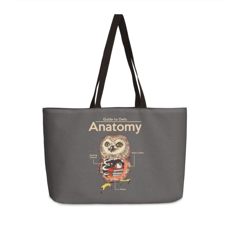 Anatomy of Owls Accessories Weekender Bag Bag by Vincent Trinidad Art