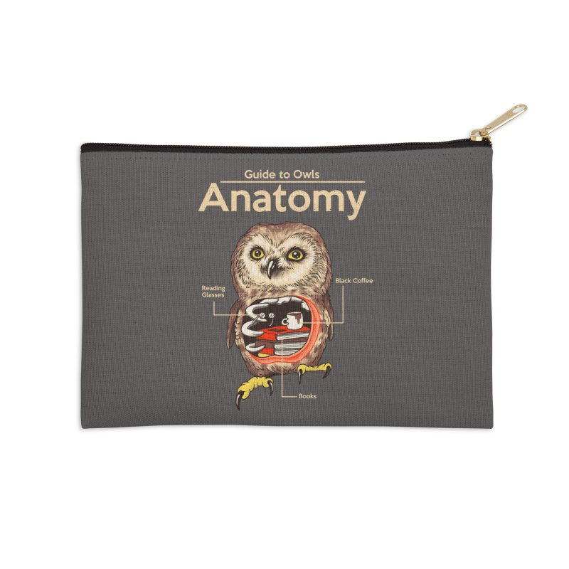 Anatomy of Owls Accessories Zip Pouch by Vincent Trinidad Art