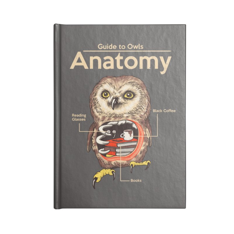Anatomy of Owls Accessories Lined Journal Notebook by Vincent Trinidad Art