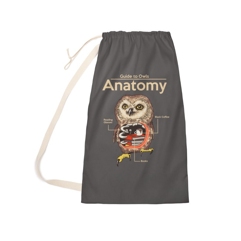 Anatomy of Owls Accessories Laundry Bag Bag by Vincent Trinidad Art