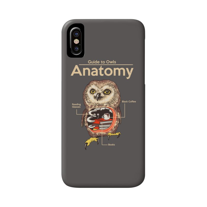 Anatomy of Owls Accessories Phone Case by Vincent Trinidad Art