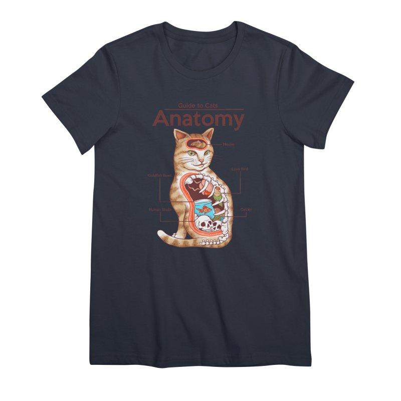 Anatomy of Cats Women's Premium T-Shirt by Vincent Trinidad Art