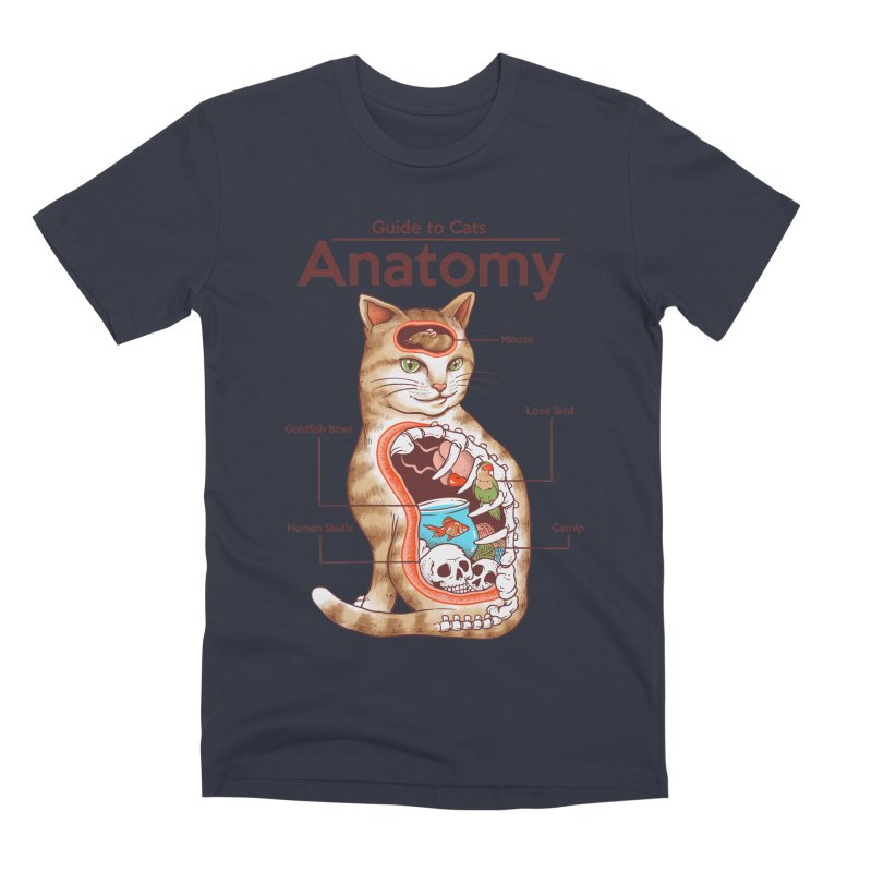 Anatomy of Cats Men's Premium T-Shirt by Vincent Trinidad Art