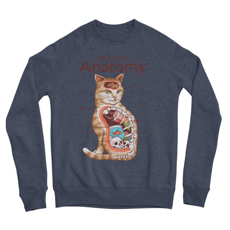 Anatomy of Cats Men's Sponge Fleece Sweatshirt by Vincent Trinidad Art