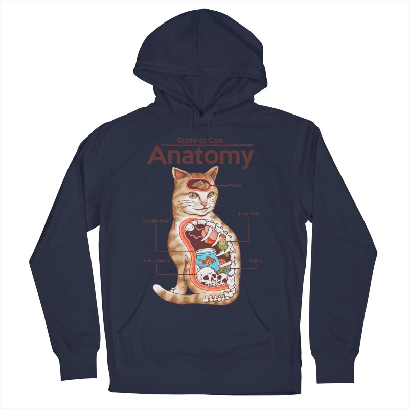 Anatomy of Cats Women's French Terry Pullover Hoody by Vincent Trinidad Art