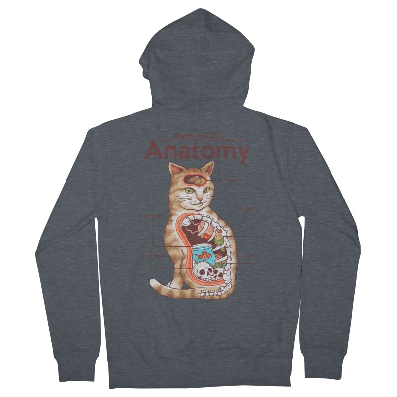 Anatomy of Cats Women's French Terry Zip-Up Hoody by Vincent Trinidad Art