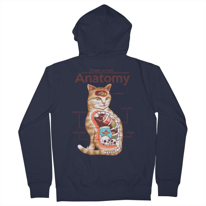 Anatomy of Cats Men's French Terry Zip-Up Hoody by Vincent Trinidad Art