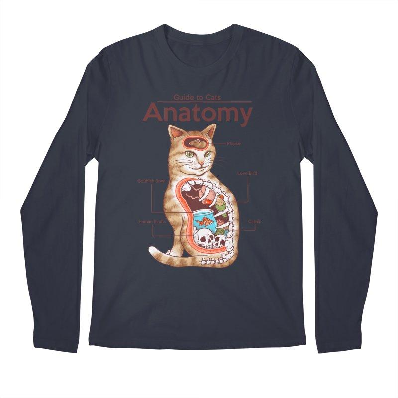 Anatomy of Cats Men's Regular Longsleeve T-Shirt by Vincent Trinidad Art