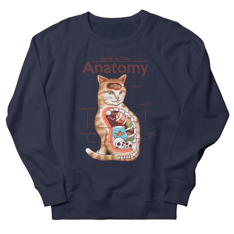 Anatomy of Cats Men's French Terry Sweatshirt by Vincent Trinidad Art