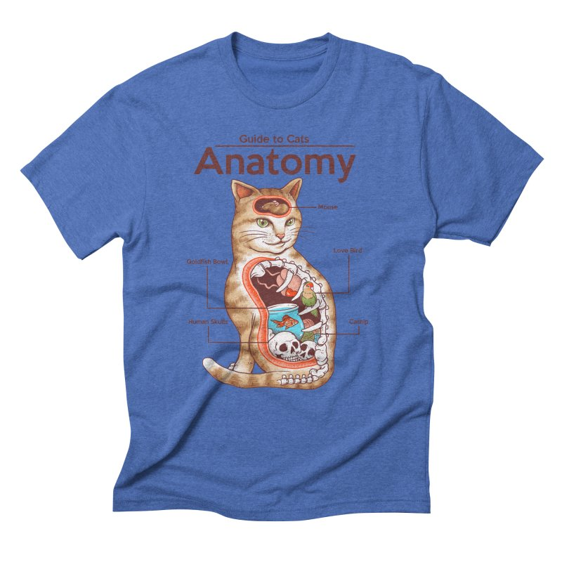 Anatomy of Cats Men's Triblend T-Shirt by Vincent Trinidad Art