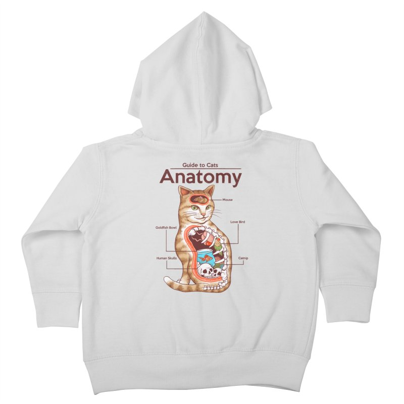 Anatomy of Cats Kids Toddler Zip-Up Hoody by Vincent Trinidad Art