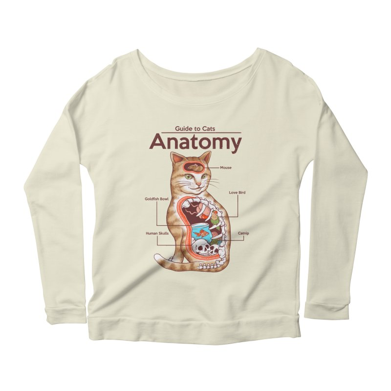 Anatomy of Cats Women's Scoop Neck Longsleeve T-Shirt by Vincent Trinidad Art