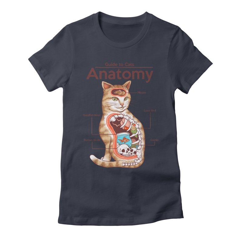 Anatomy of Cats Women's Fitted T-Shirt by Vincent Trinidad Art
