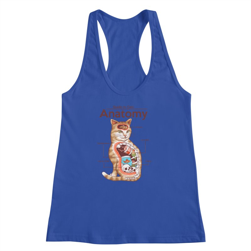 Anatomy of Cats Women's Racerback Tank by Vincent Trinidad Art