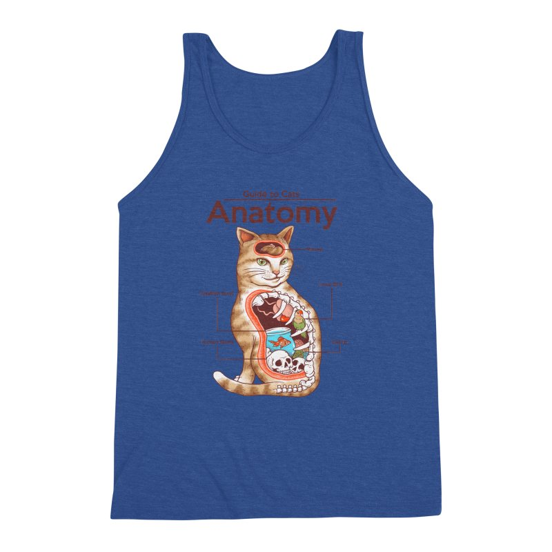 Anatomy of Cats Men's Triblend Tank by Vincent Trinidad Art