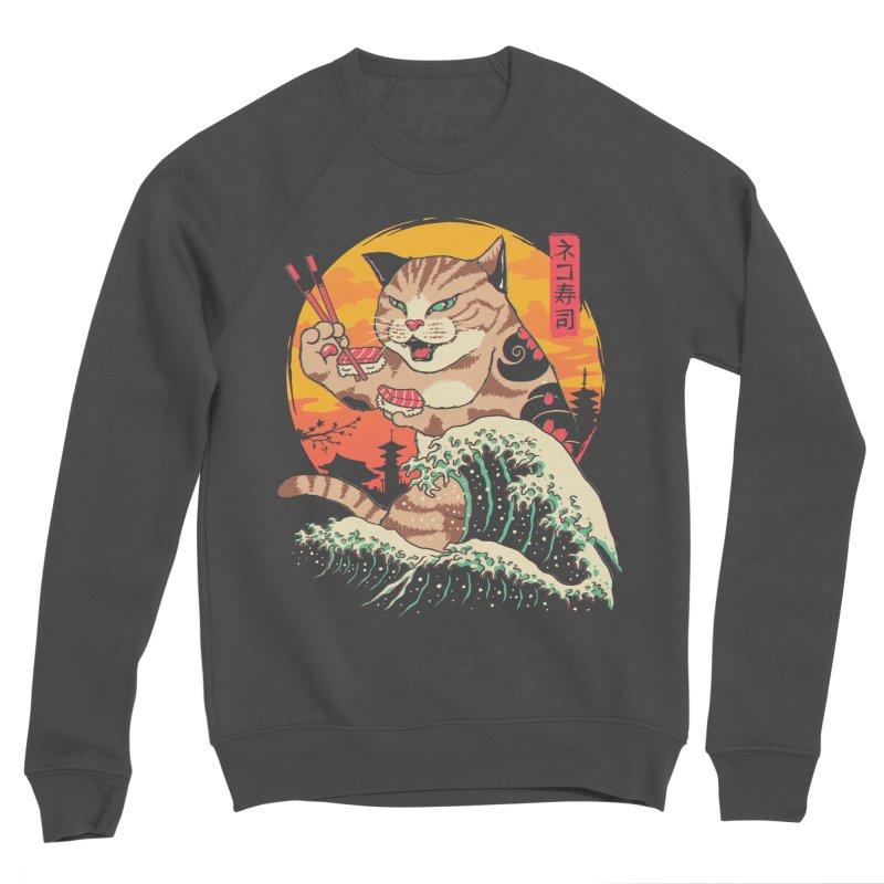 Neko Sushi Wave Men's Sponge Fleece Sweatshirt by Vincent Trinidad Art